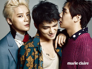 JYJ graces cover of Marie Claire
