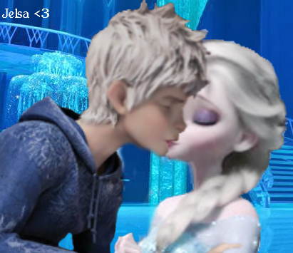 Elsa & Jack Frost wallpaper probably containing a hot tub titled Jack Frost and Queen Elsa