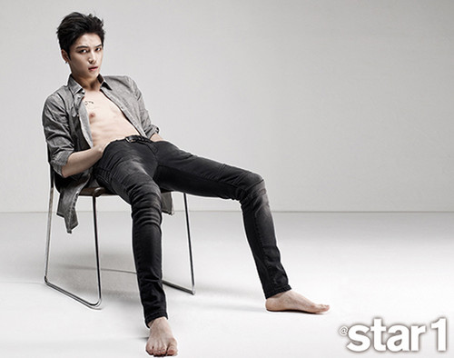 JYJ দেওয়ালপত্র with a well dressed person titled Jaejoong Covers @Star 1′s August 2014 Issue