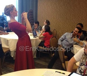 Jen taking a picture of Colin