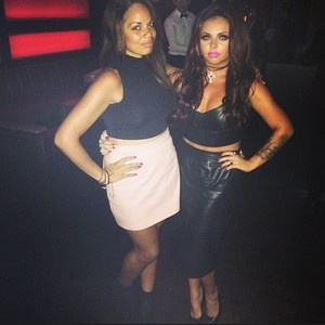 Jesy and and their friend Sam last night