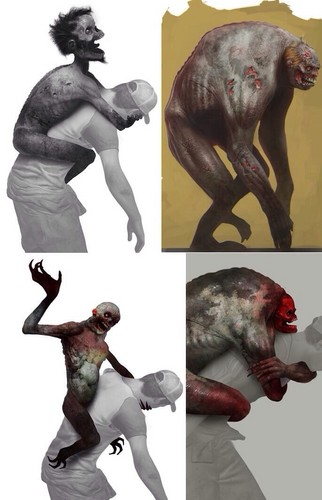 left 4 dead 2 wallpaper titled Jockey Concept Art
