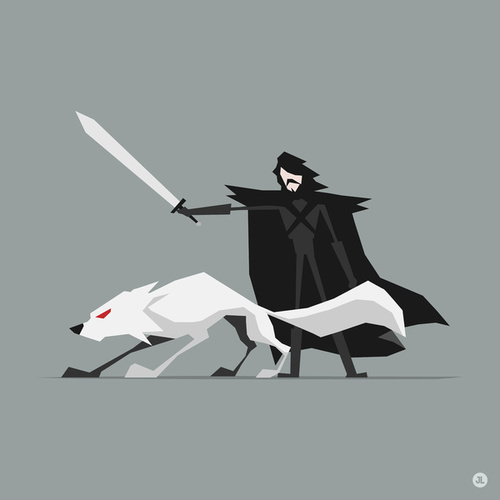 Game of Thrones wallpaper probably containing a surcoat called Jon Snow and Ghost (GOT)