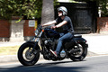 Josh Hutcherson riding his motorcycle in Beverly Hills [July 23, 2014]