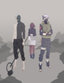 Kakashi Hatake, Obito Uchiha and Rin