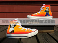 Kung Fu Panda White High Top Hand Painted Converse Canvas Shoes for Adult/Kids - kung-fu-panda photo