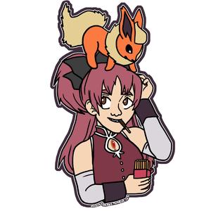 Kyoko and Flareon