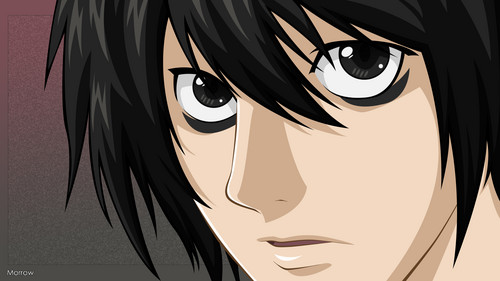 L achtergrond probably containing anime entitled L Lawliet (Death Note)