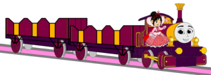 Lady with her Double Open-Topped Carriage & Vanellope beside her