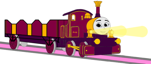 Thomas the Tank Engine wallpaper titled Lady with her Open-Topped Carriage & Shining Gold Lamps