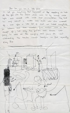 Letter from Syd Barrett to his girlfriend Jenny Spires (1)
