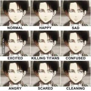 Levi Faces..