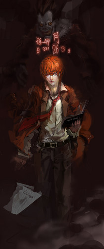 Light Yagami wallpaper probably with a fogo titled Light Yagami