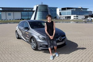 Louis during an AMG Driving Experience at Mercedes-Benz World in Weybridge, England - 18.07.2014