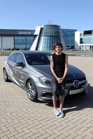 Louis during an AMG Driving Experience at Mercedes-Benz World on July 18, 2014 in Weybrigde, England