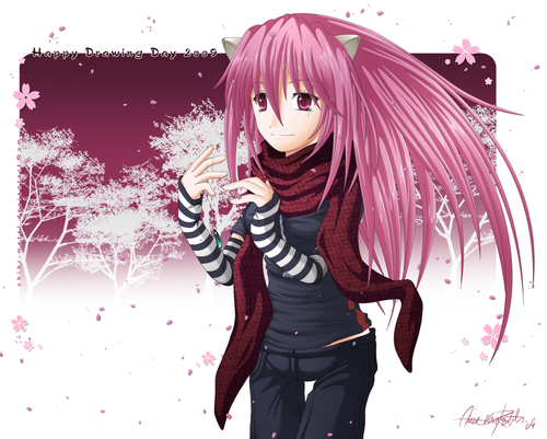Elfen Lied fondo de pantalla possibly containing a well dressed person entitled Lucy fan Art
