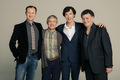 Mark Gatiss, Martin Freeman, Benedict Cumberbatch and Steven Moffat - sherlock-on-bbc-one photo