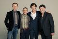 Mark Gatiss, Martin Freeman, Benedict Cumberbatch and Steven Moffat - sherlock-on-bbc-one photo