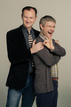 Mark Gatiss and Martin Freeman - sherlock-on-bbc-one photo