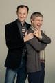 Mark Gatiss and Martin Freeman - sherlock-on-bbc-one photo