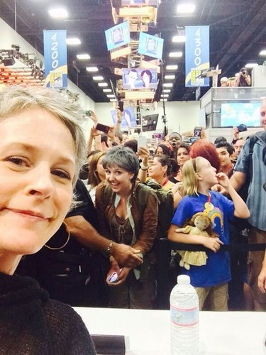 The Walking Dead wallpaper probably with a street entitled Melissa McBride & Carol-on