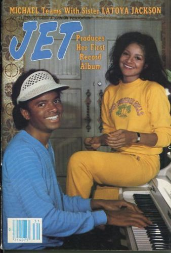 Michael And Older Sister LaToya, On The Cover Of JET Magazine