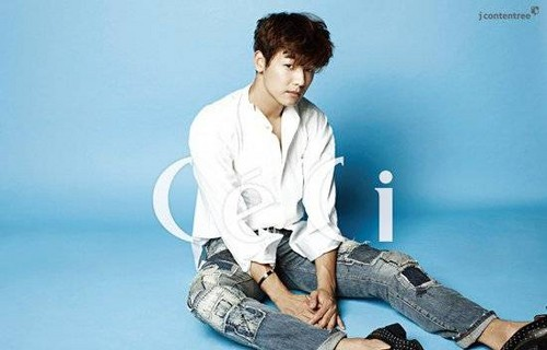 Kang Min Hyuk দেওয়ালপত্র probably containing a well dressed person and a business suit titled Minhyuk fo r 'Ceci'