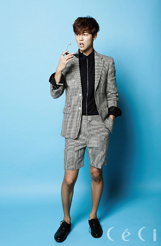 Kang Min Hyuk দেওয়ালপত্র containing a well dressed person, an outerwear, and long trousers called Minhyuk fo r 'Ceci'