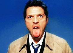 Misha Collins And His Tongue