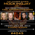 Mockingjay cast members to meet fans at SDCC - mockingjay photo