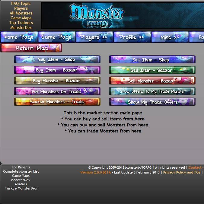Monster MMORPG Pokemon Style Online Browser Game images Monster