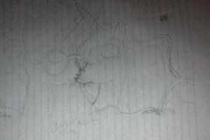 My OC Blazin' Blue kissing Princess Luna