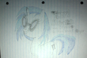 My first drawing of Vinyl Scratch