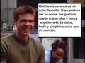 My thoughts of Matthew in Spanish - matthew-lawrence photo