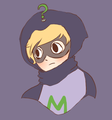 Mysterion with a flower crown.