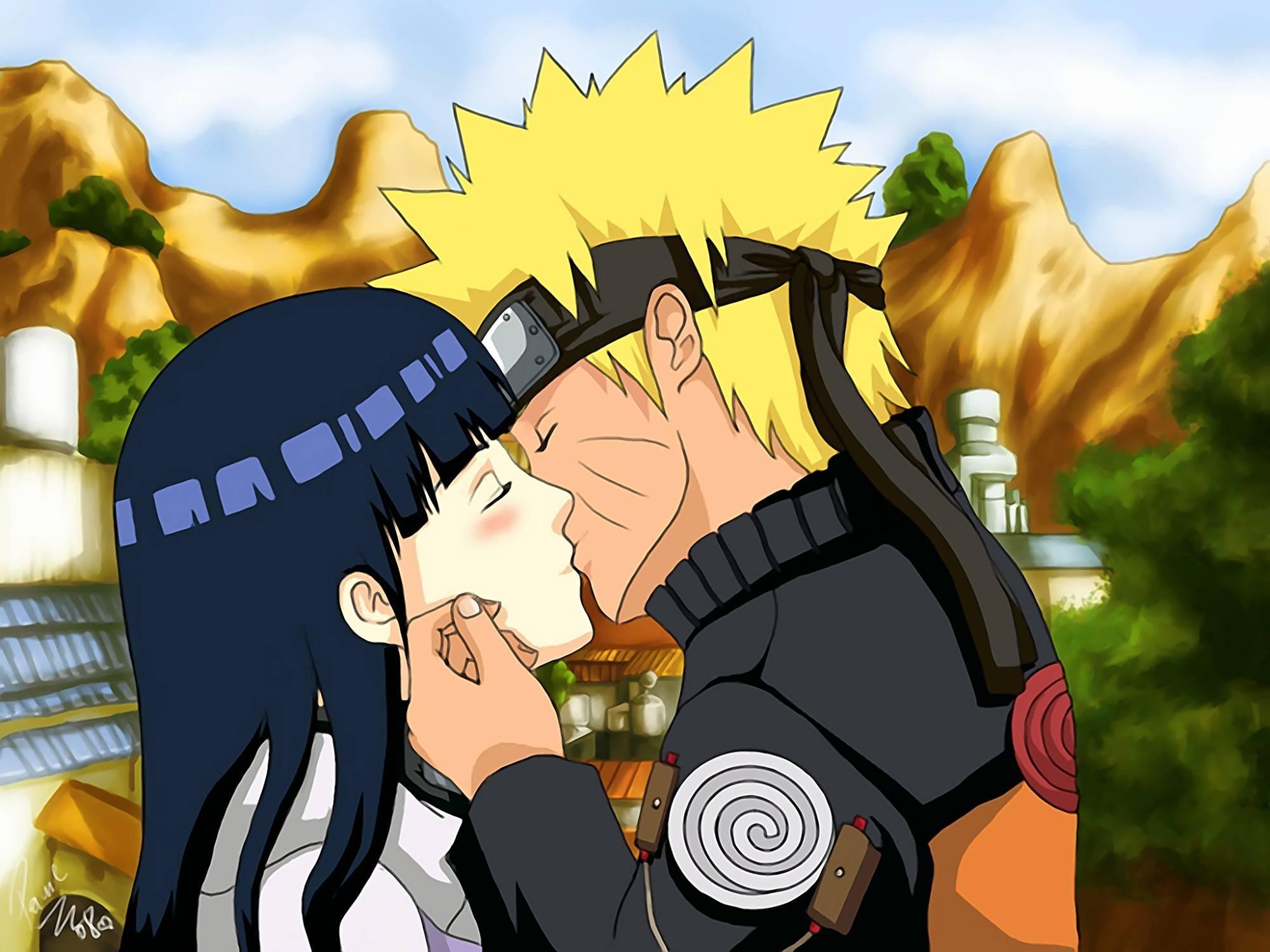 Naruto kissing   love this  Naruto