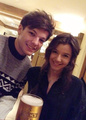 Eleanor and Louis during their Christmas holidays in 2012