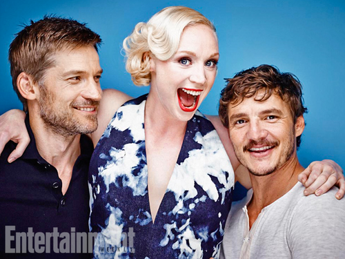 Game of Thrones wallpaper titled Nikolaj Coster-Waldau, Gwendoline Christie and Pedro Pascal