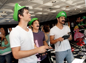 Nintendo Lounge On The TV Guide Magazine Yacht - 24.07.14