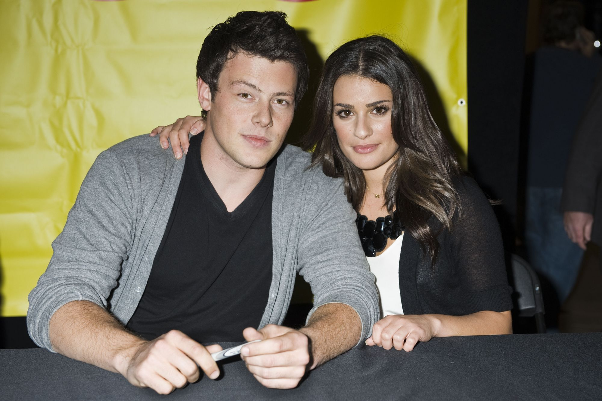 Lea Michele and Cory Monteith ...