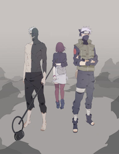 Naruto wallpaper titled Obito, Rin and Kakashi