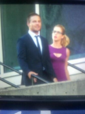 On set - Arrow Season 3