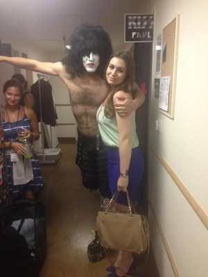 Paul Stanley and Sophie Simmons