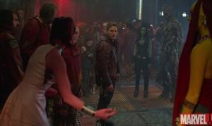 Peter,Gamora, Groot