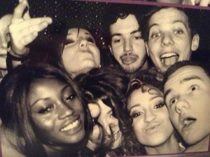 Eleanor, Louis, Liam, Danielle with Friends from the New Year's Party 2012