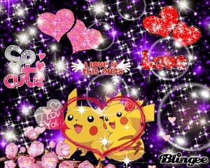 pikachu girl and boy amor