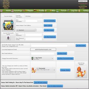 Pokemon Pets Pokemon Online MMORPG Game Free To Play Browser Based Gameplay Screenshot