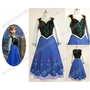 Princess Anna Costume for 2013 디즈니 Film 겨울왕국 Cosplay