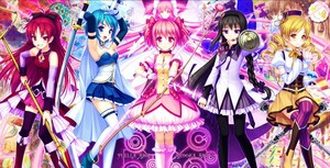 Puella magi in battle outfits