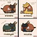 Pusheen Attack on titan  - shingeki-no-kyojin-attack-on-titan photo